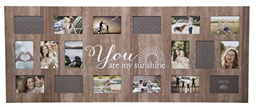 GALLERY SOLUTIONS Rustic 18 Opening Distressed You Are My Sunshine Collage - Collage Frame