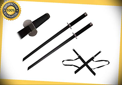 26.75'' Double Swords with Back Holder perfect for cosplay outdoor camping -