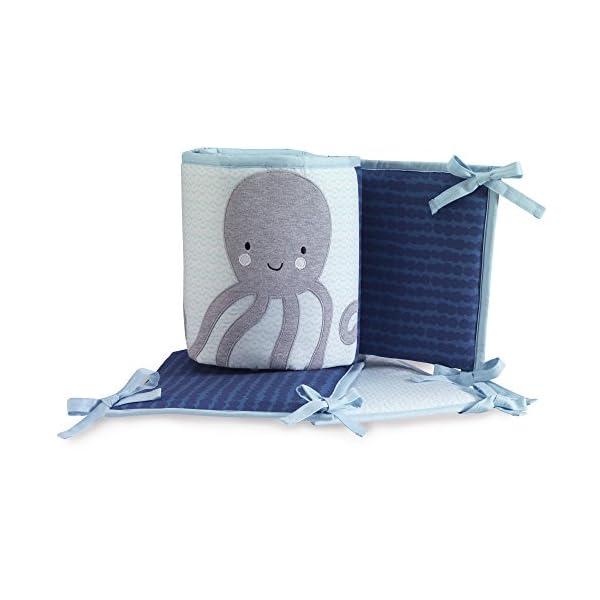 Lambs & Ivy Oceania 4-Piece Crib Bumper – Ocean Underwater Theme – Blue