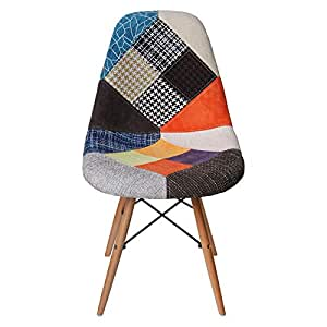 Vogue Designer Dining Chair, Multi Color - H 81 cm x W 45 cm x D 47 cm