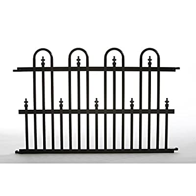 Fence Panel Aluminum Construction 2 ft. H x 3 ft. W in Black