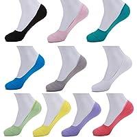 Smartwallstation 10-Pair Womens Size 5-9 No Show Socks Casual Non Slip Hidden Flat Line