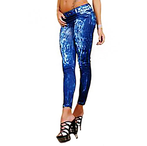 Tubo New Pantaloni Leggings Bambina Jeans Donna Blue Legging Look x0wYrA0qH
