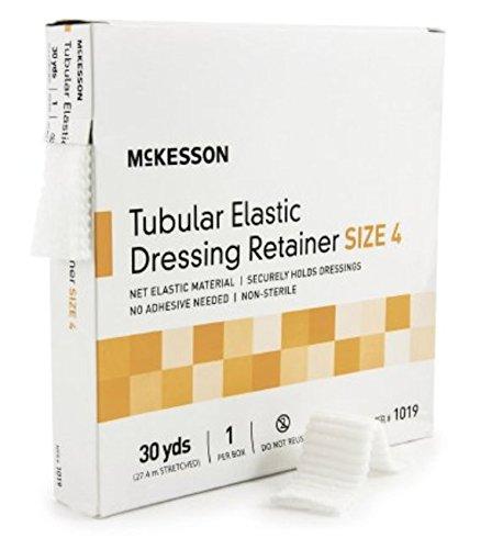 McKesson - Retainer Dressing McKesson Tubular Elastic Dressing Elastic Net 30 Yards Size 4 - 1/Box - McK