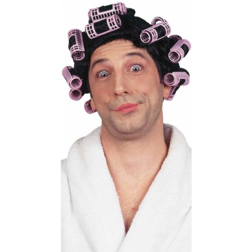 Forum Funny Crossdresser Curlers Housewife Adult Costume Wig ()
