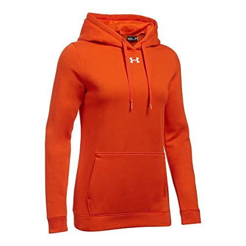 (Under Armour Women's UA Rival Hoodie LG Dark Orange)