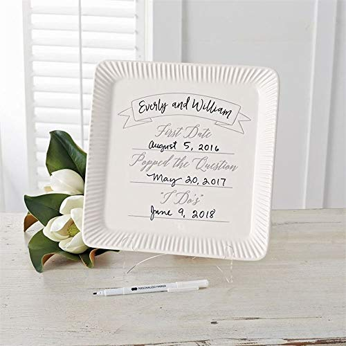 Mud Pie Commemorative Wedding Plate 11