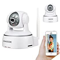 DMZOK WiFi Camera, Wireless Security Camera, Nanny Cam, WiFi IP Camera, Pan Tilt Zoom Night Vision Two Way Audio Motion Detection, Remote Monitoring on Mobile App