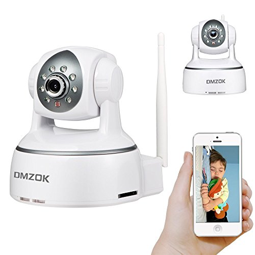 DMZOK WiFi Wireless Camera, Baby Camera, Nanny Cam, HD 720P, Pan Tilt Zoom, Night Vision, Two- Way Audio, Easy Setup, Remote Monitoring on Mobiles(720P)