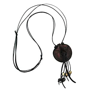 Collar, anillo, marrón-negro-mat 100 cm