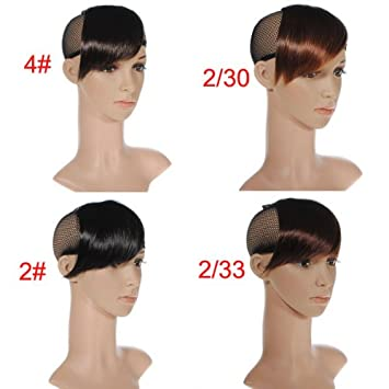 Amazon Com Fashionable Clip In Front Side Swept Fringe Bangs