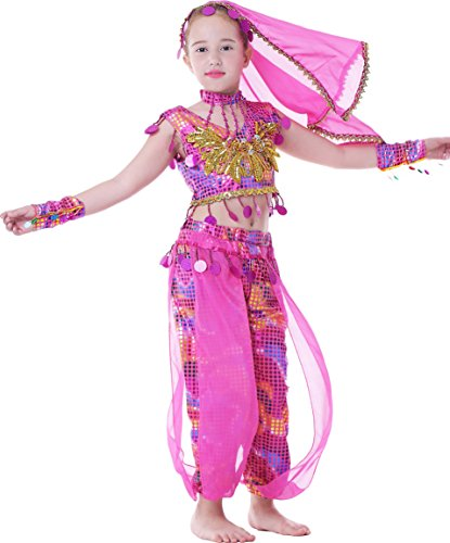 Seawhisper Kid's Performance India Costume School Show Outfit Girl Halloween (Cute Costumes For Kids Dances)