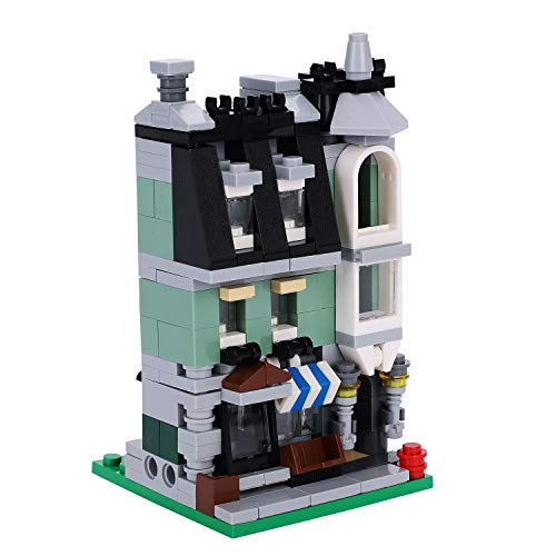 City Series Mini Café House Hotel Building Blocks Sets for Kids 290 Pieces Construction Architecture Stacking interlocking Building Bricks Kits Model Preschool Learning Build Your Own Building