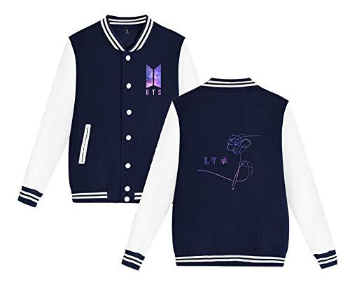 Outwear Béisbol Tallas Haililais BTS Parejas con Chaqueta Abrigos Hipster Botones Jacket Coat Chaquetas Unisex Abrigo de Grandes De tTTHq0w