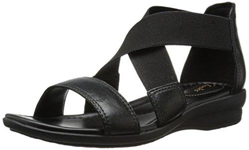 Clarks Women's Reid Solana Dress Sandal, Black, 6.5 M US by CLARKS