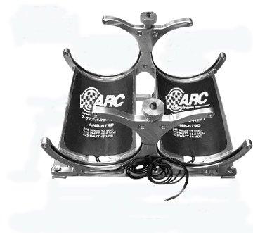 ARC AHH-20 Dual Horizontal mount Nitrous Bottle Heated Anodized Aluminum Billet Brackets