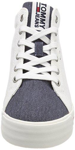 top White 020 Sneaker Women''s rwb Tommy Jeans Wedge Low apWfwxnSqX