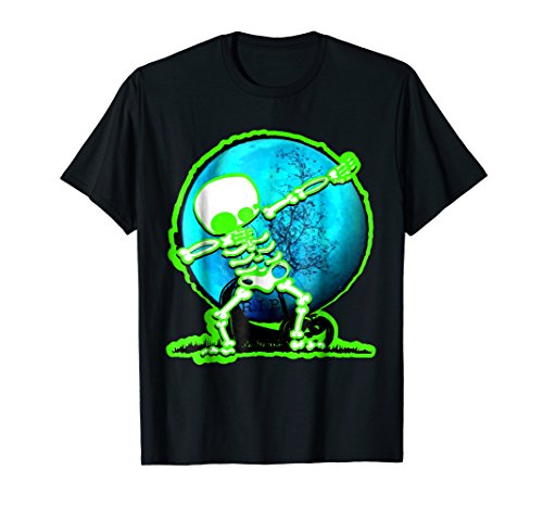 Dabbing Skeleton Halloween Spirit T Shirt