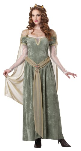 California Costumes Queen Guinevere, Sage, Small Costume