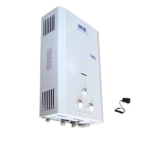 Aquah Indoor Liquide Propane Gas Tankless Water Heater 16L / 4.3 Gpm, Whole House
