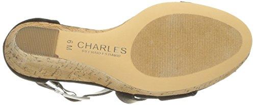 Charles Door Charles David Leanna Wedge Sandaal Microsuede