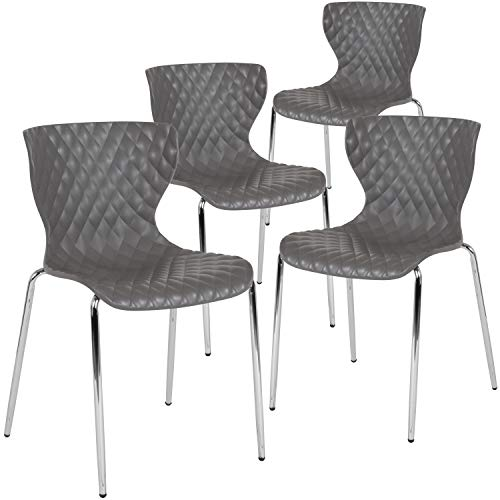 Flash Furniture 4-LF-7-07C-GRY-GG Home & Office Chairs, 4 Pack, Gray
