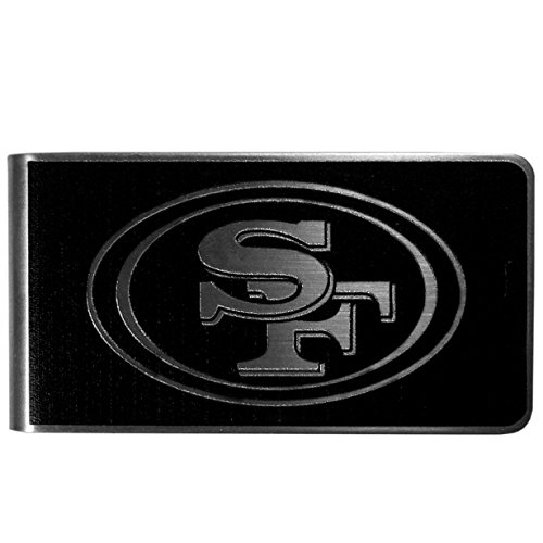NFL San Francisco 49Ers Black & Steel Money Clip