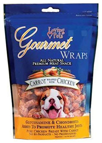 Loving Pets Gourmet Carrot & Chicken Dog Treat Wrap 2.25Lb (6 x 6oz)