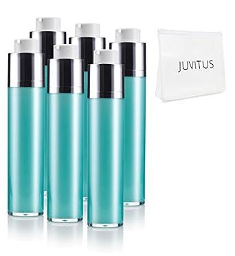 4be1aa5eb1df Amazon.com: 50 ml / 1.7 oz Airless Twist Top Teal Blue Pump Bottle ...