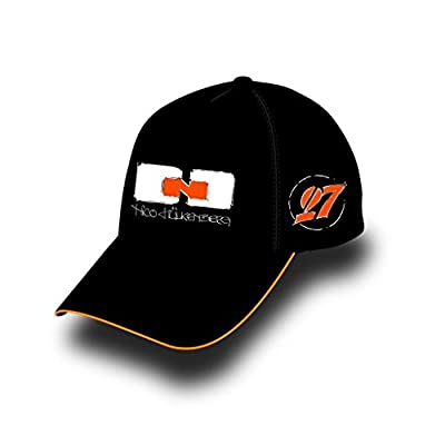 Sahara Force India Nico Huelkenberg Black Driver Hat w/#27 and Team Logo on Back from Sahara Force India