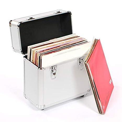 Studio X 12' Vinyl Record Collection DJ Flight Case Storage Box Black - Holds 50