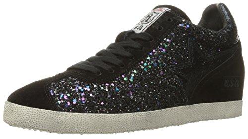 Ash Women's Guepard Fashion Sneaker, Black/Midnight, 38 EU/8 M US