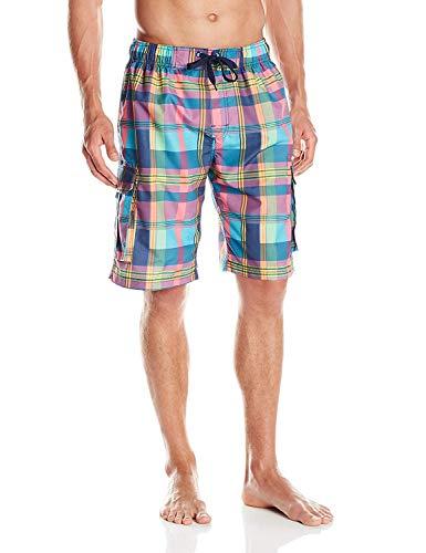Kanu Surf Men's Miles Swim Trunks (Regular & Extended Sizes), Zuma Navy, 3X