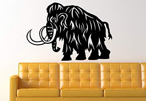 (BYRON HOYLE Woolly Mammoth Dinosaur Prehistoric Animal Vinyl Wall Art Graphic Decal)