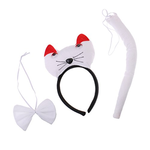 Homyl 3/Set Animal Theme Costume Accessory Giraffe Panda Cute Cat Accessory Kit - White, as described ()