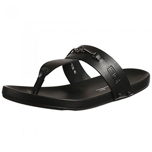 Egle Men's Black Leather Sandal: Buy
