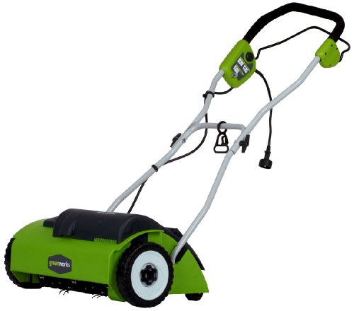 Greenworks 14-Inch 10 Amp Corded Dethatcher 27022 (Power Rake Grass)