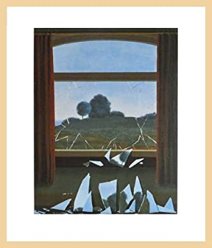 Rene Magritte Broken Window Poster Art Print Holz Rahmen in Ahorn ...
