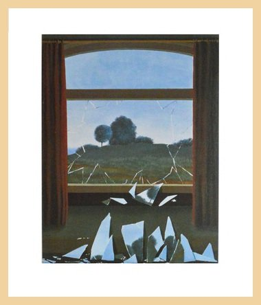 Rene Magritte Broken Window Poster Art Print Holz Rahmen In Ahorn