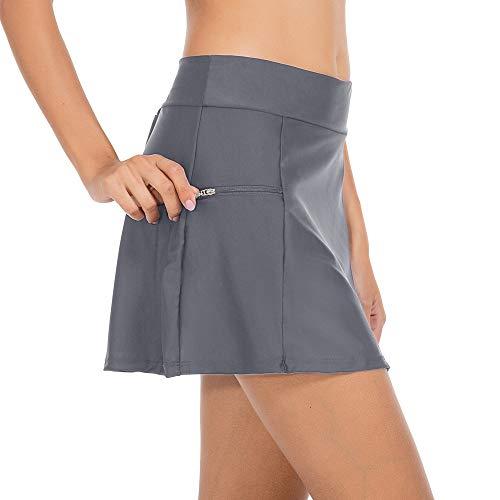 ZEALOTPOWER Swim Bottoms for Women Swim Skirt Bikini Tankini Bottom with Side Pocket ()