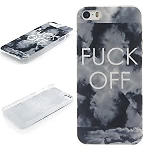 HP DF FUCK OFF Pattern PC Hard Protective Case for iPhone 5/5S