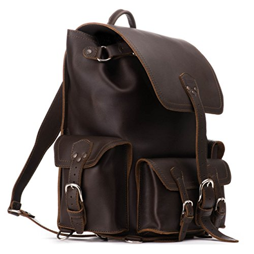 Saddleback Leather Co. Full Grain Leather Front Pocket Backpack Book Bag School Business Travel Includes 100 Year Warranty