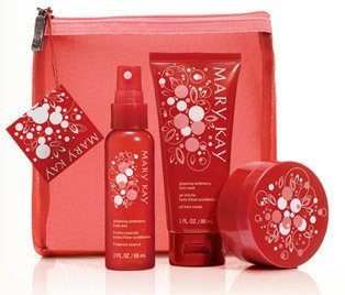 Mary Kay Pack Lot Glistening Winterberry Bath Body Gift Set 3 Items in Gift Bag