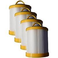 (4) Eureka Series 5700 5800 Pleated Dust Cup Lite Speed Type DCF 3 Hepa Bagless Upright Vacuum, Litespeed Whirlwind, Sanitaire, 922 62136, 61830A, 61825