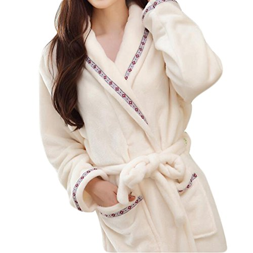 Pajama Casual Set chaud Pyjamas Femmes/Lovers flanelle Nightgown X-grand-A1