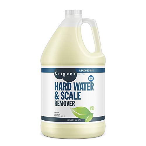 Origenz Natural Hard Water & Scale Remover, All Natural, 1 gal, (Pack of 4)