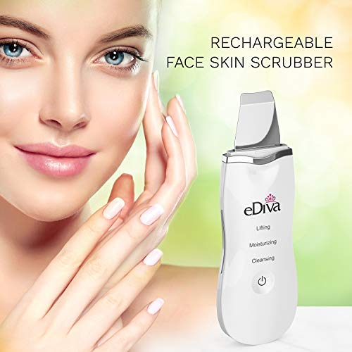 Advanced #1 Skin Scrubber, Scraper and Gentle Peel Device by eDiva - Cordless Pore Cleanser & Exfoliator, Comedone Extractor, Facial Lift Treatment, Dermabrasion, Face Beauty Spatula by eDiva (Image #3)