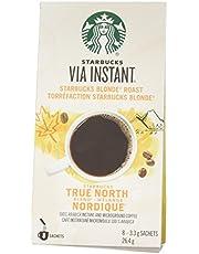 Starbucks Via Instant True North Blend Blonde Roast Coffee, 8 Count