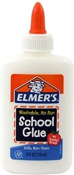 Elmer's Washable No-Run School Glue, 4 oz