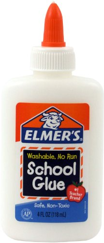 Elmers Washable No-Run School Glue 4 oz  1 Bottle (E304)